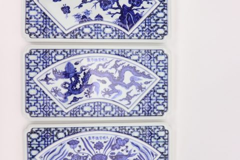 RZHL44 Blue and white inmitation ming dynasty cearmic plate