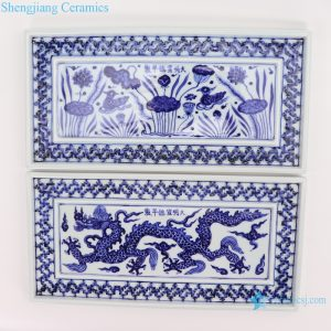 RZHL45--A-B Blue and white inmitation ming dynasty cearmic plate
