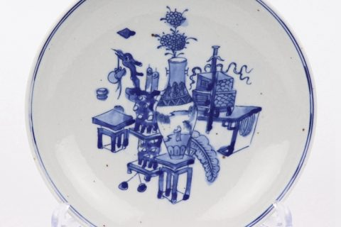 RZKT35 hand made Blue and white cearmic plate