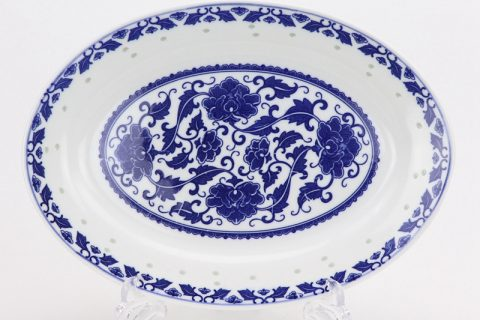 RZLL10- hand made Blue and white cearmic plate
