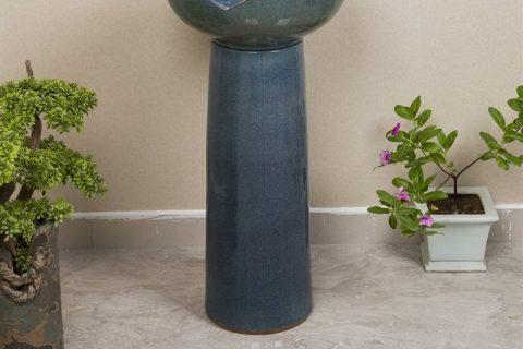 byl2006-39 Color glaze blue glaze shaped vertical ceramic table basin