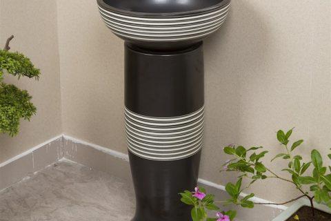 byl2006-44 Black marbling shaped vertical porcelain table basin