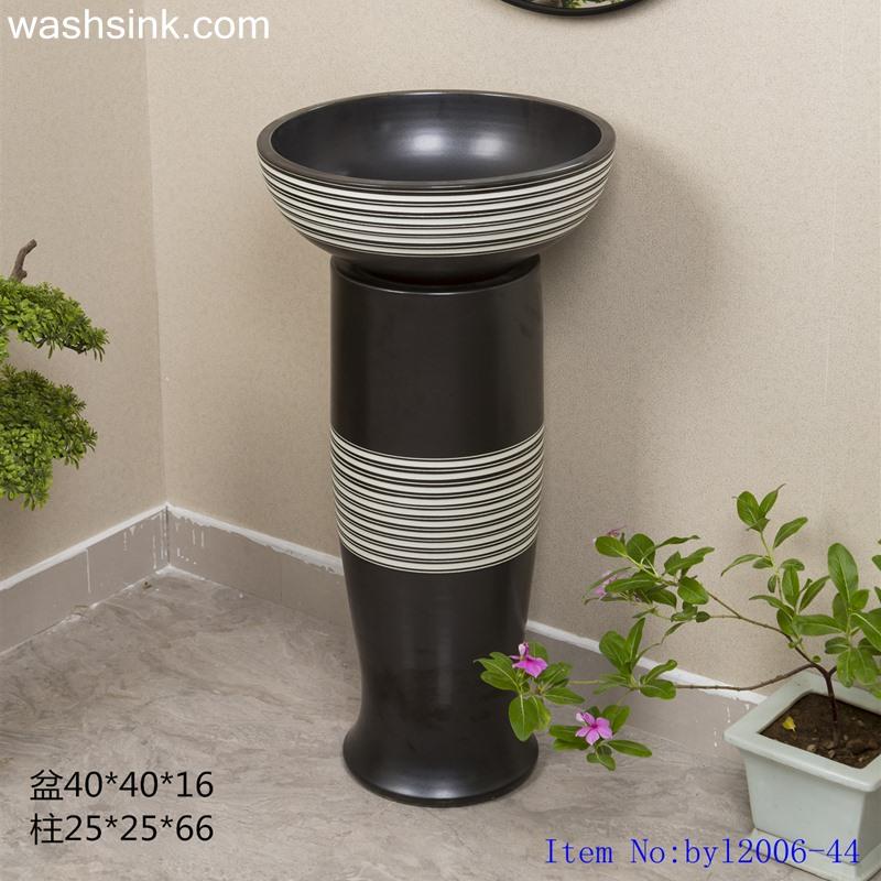 Black marbling shaped vertical ceramic table basinbyl2006-44