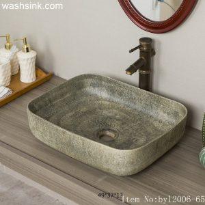 byl2006-65 Colored glazed marbled pocelain table basin