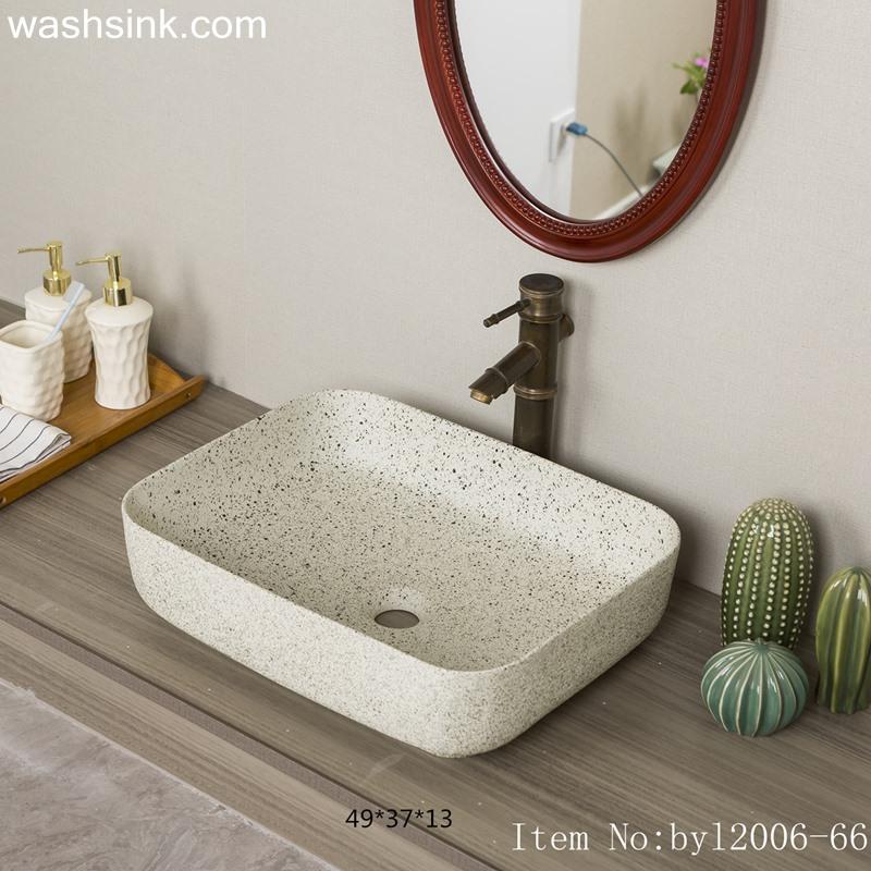 Marbled white ceramic table basin byl2006-66