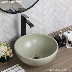 byl2006-92 Color glaze gray round ceramic table basin