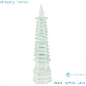 RZEI10 Colored glazed soya-green glazed multi-layered pagoda