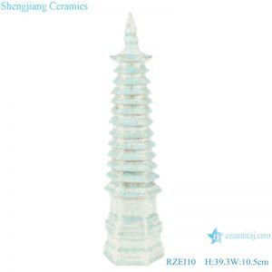 RZEI10 Colored glazed soya-green glazed multi-layered pagoda