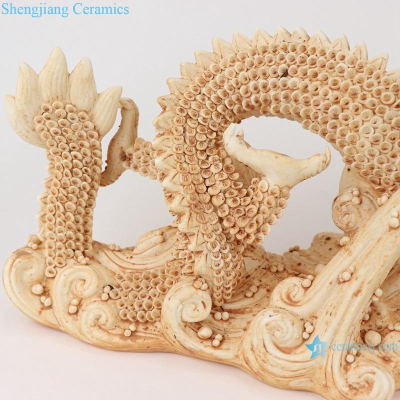 Sculpture sea dragon porcelain decorative antique porcelain RZEI11