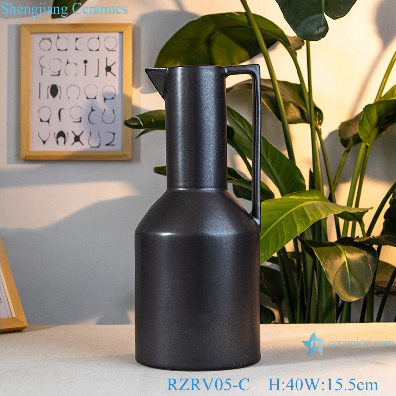 Decorative flower vases black vases RZRV05-C