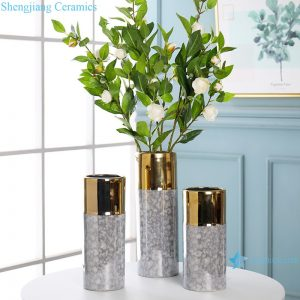 RZRV06-A-B-C Living room coffee table decorated gold-plated vases