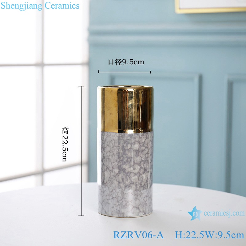 Decorated with gold plated porcelain vases RZRV06-A