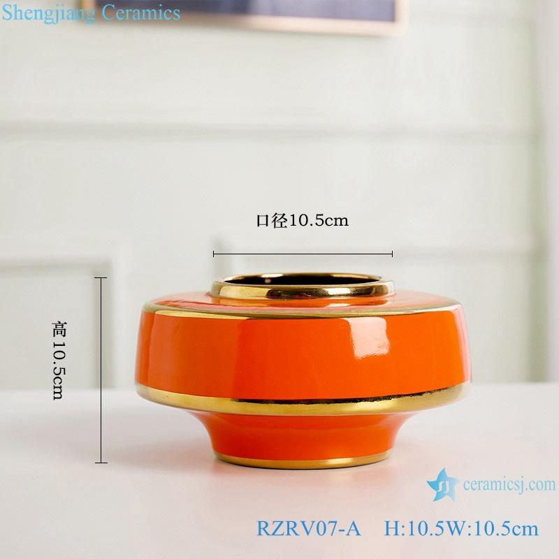 Color glaze gilt flower arrangement abnormity vase RZRV07-A