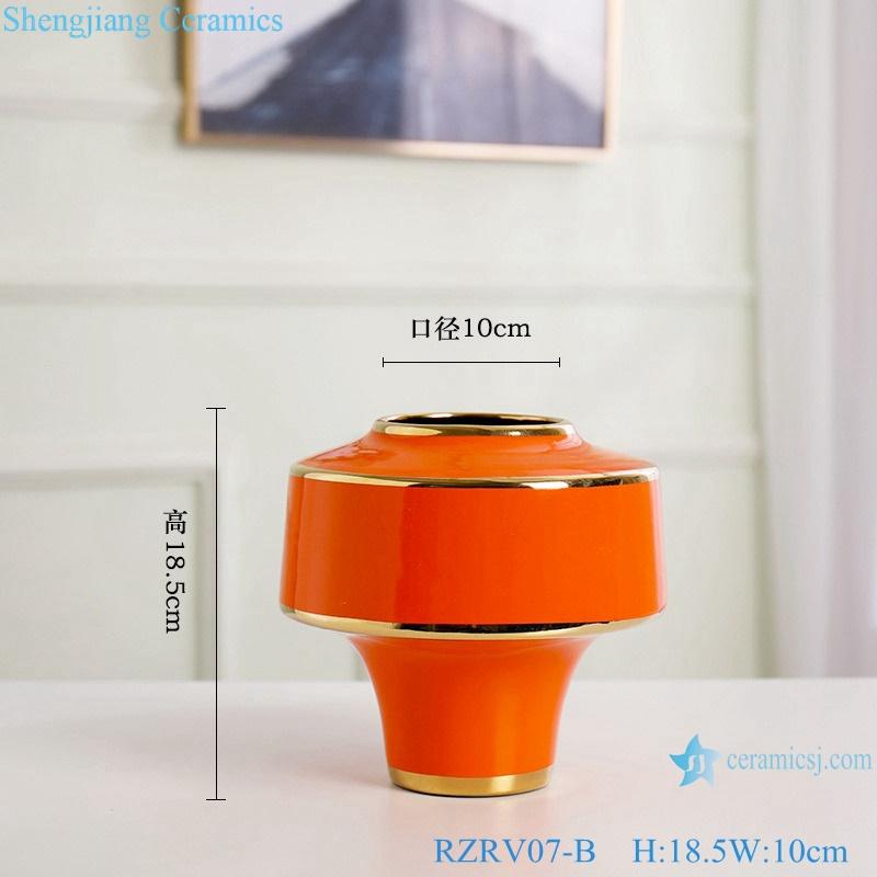 Color glaze gilt flower arrangement abnormity vase RZRV07-B