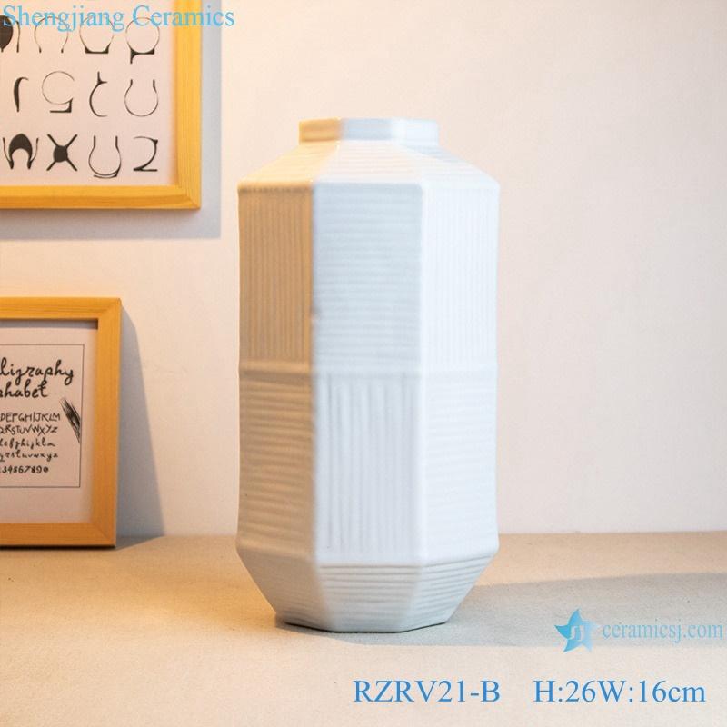 White decorative porcelain artwork flower arrangement RZRV21-B