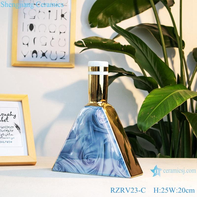 Triangular modern porcelain vase arrangement RZRV23-C