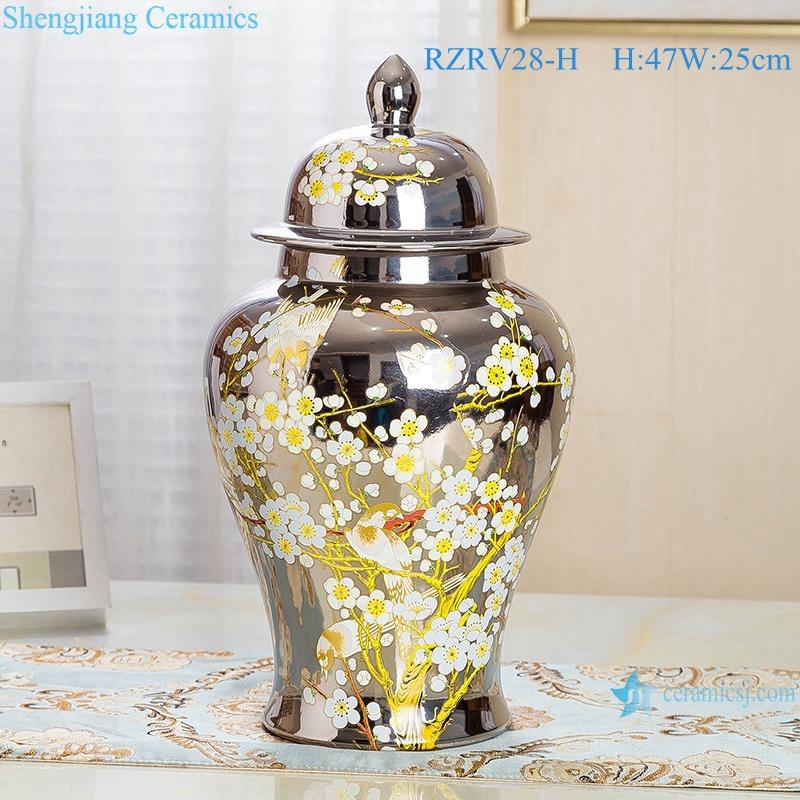 Color glaze silver general pot plum decorative vases