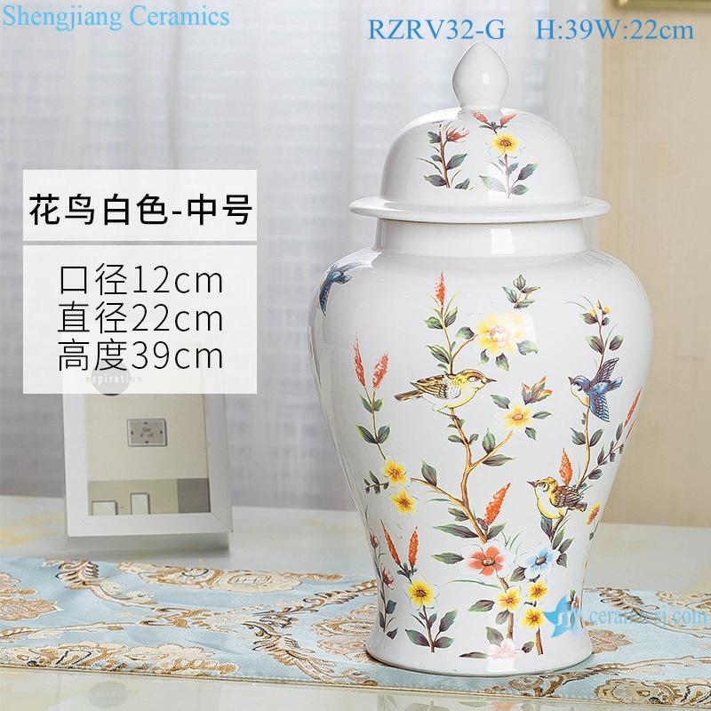 General pot color glaze white decorative ceramic RZRV32-G