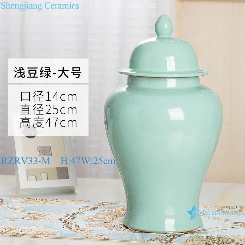 General pot ceramic decoration light green monochrome glaze RZRV33-M