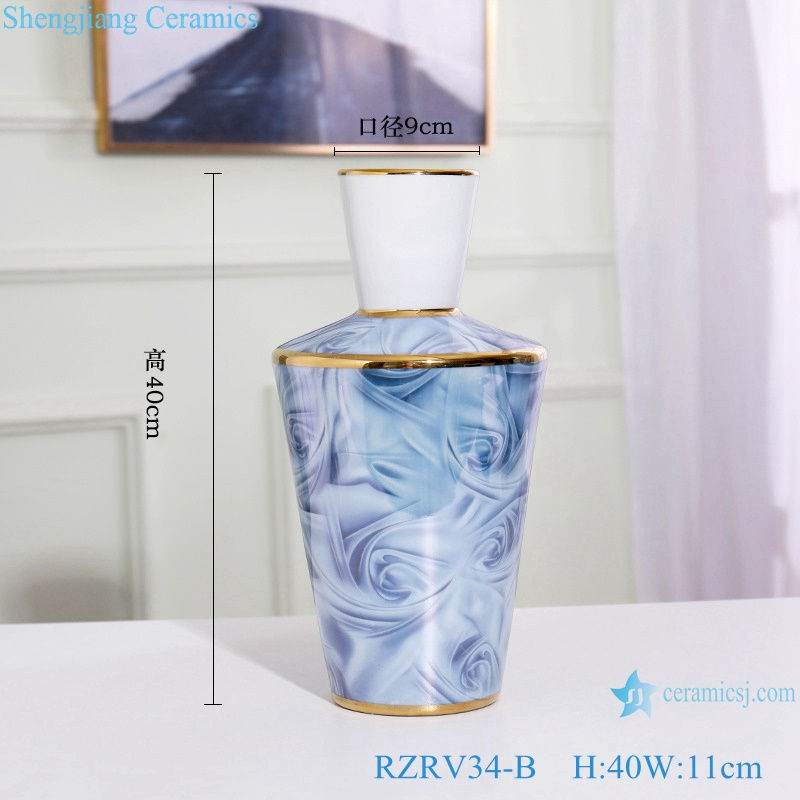 Gilt porcelain vases decoration with cover RZRV34-B