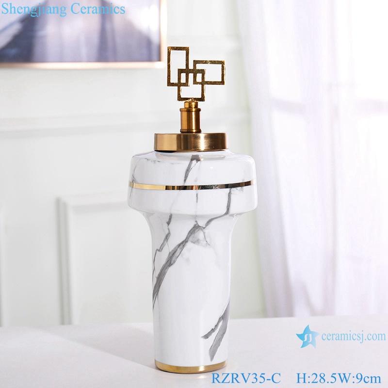 White crafts decorate ceramics vase RZRV35-C