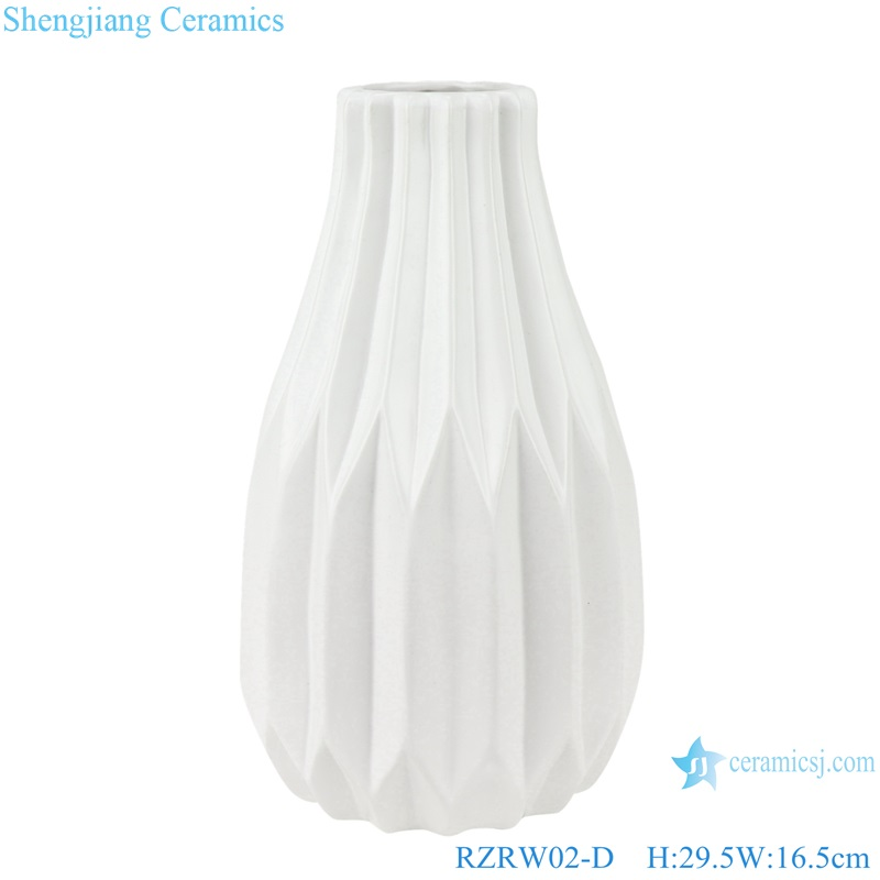 Color glaze dry flower household decoration porcelain vase white RZRW02-D
