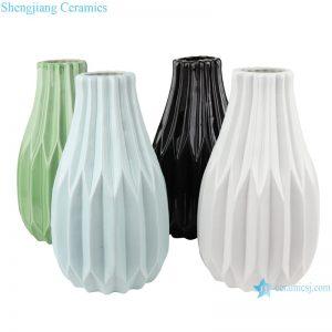 RZRW02-A-B-C-D Color glaze dry flower household decoration porcelain vase