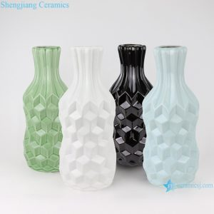 RZRW03-A-B-C-D Creative arts and crafts plaid pattern ceramic furnishing vases