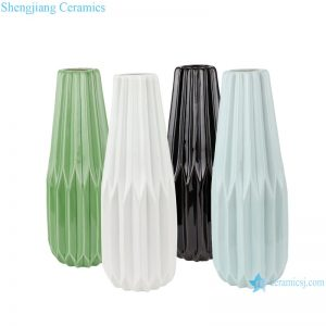 RZRW05-A-B-C-D Abstract modern origami porcelain vase decoration
