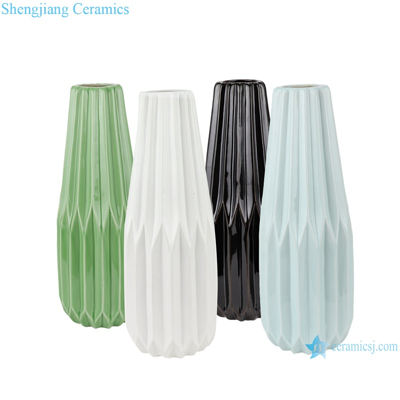 Abstract modern origami porcelain vase decoration RZRW05-A-B-C-D