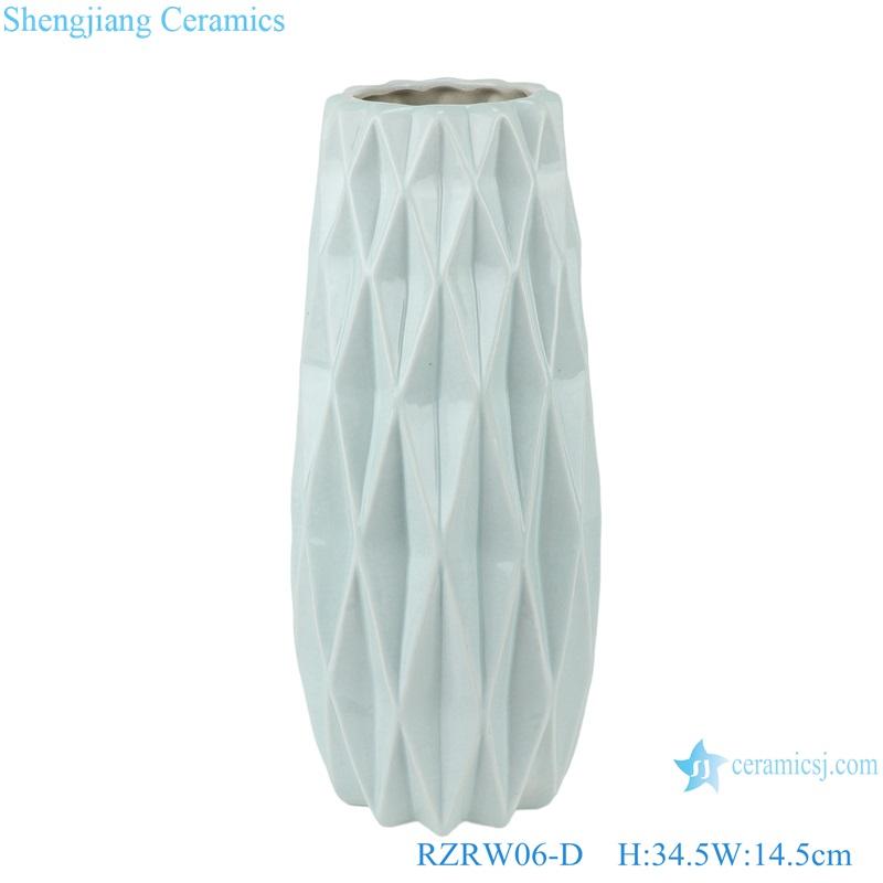 Color glazed antique flower arrangement cereamic vases blue RZRW06-D