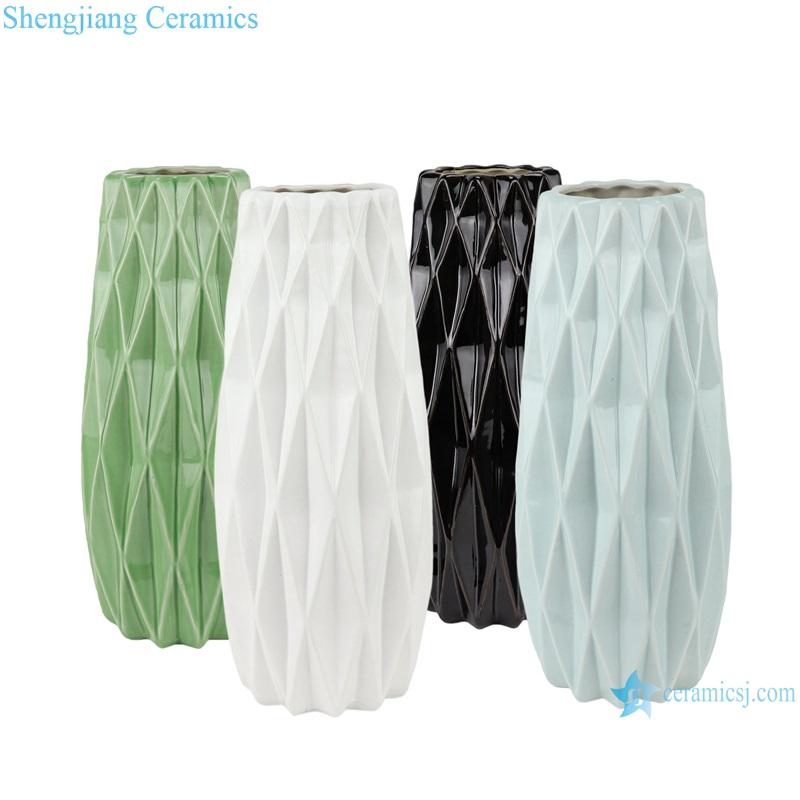 Color glazed antique flower arrangement cereamic vases RZRW06-A-B-C-D