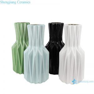 RZRW08-A-B-C-D Color glaze simple origami ceramic flower arrangement vase