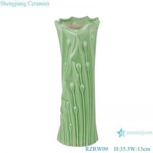 RZRW09 Color glaze simple celadon floret vase decoration green
