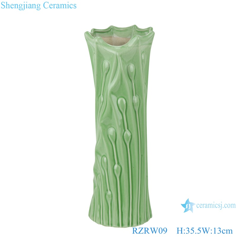 Color glaze simple celadon floret vase decoration green RZRW09