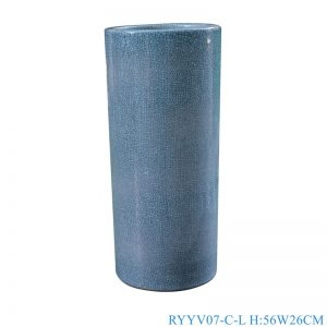 RYYV07-C-L-S Chinese handmade enamel blue decorative ceramic vases