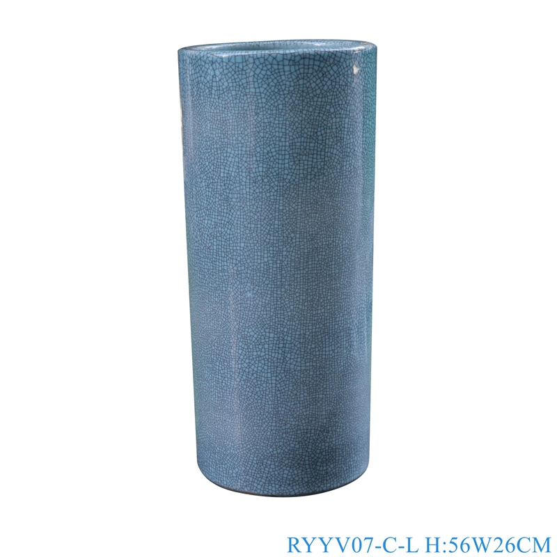 Chinese handmade enamel blue decorative ceramic vases RYYV07-C-L