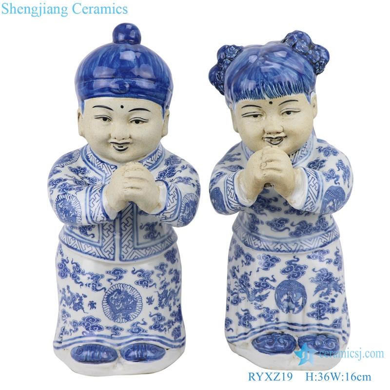 RYXZ19 blue and white ceramic