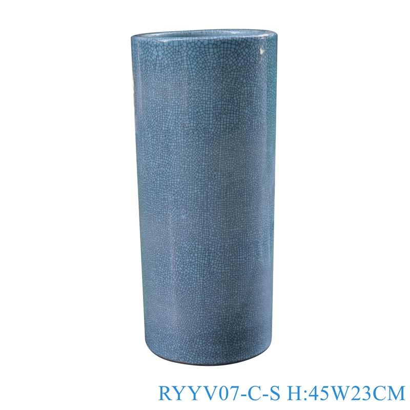 Chinese handmade enamel blue decorative porcelain vases RYYV07-C-S