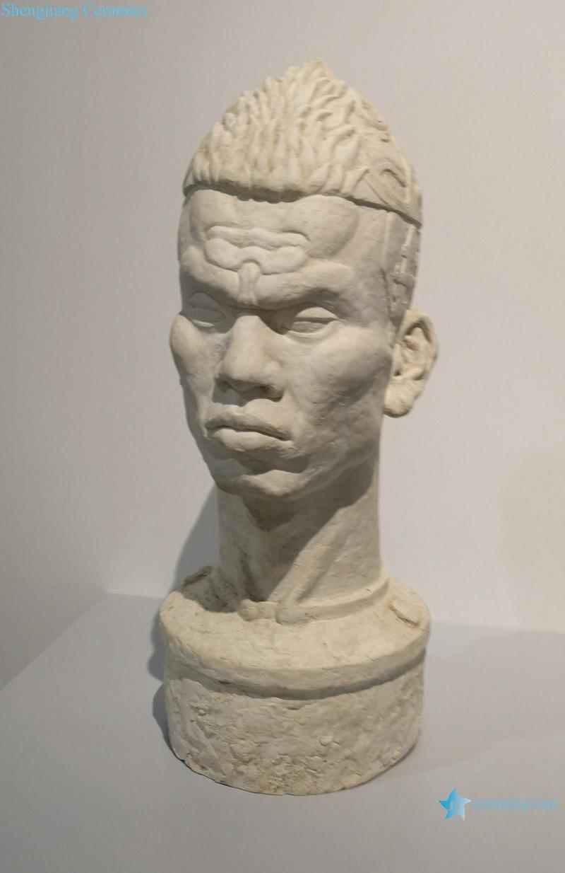 PLASTER HEAD SCULPTURE PORTRAIT DECORATIVE