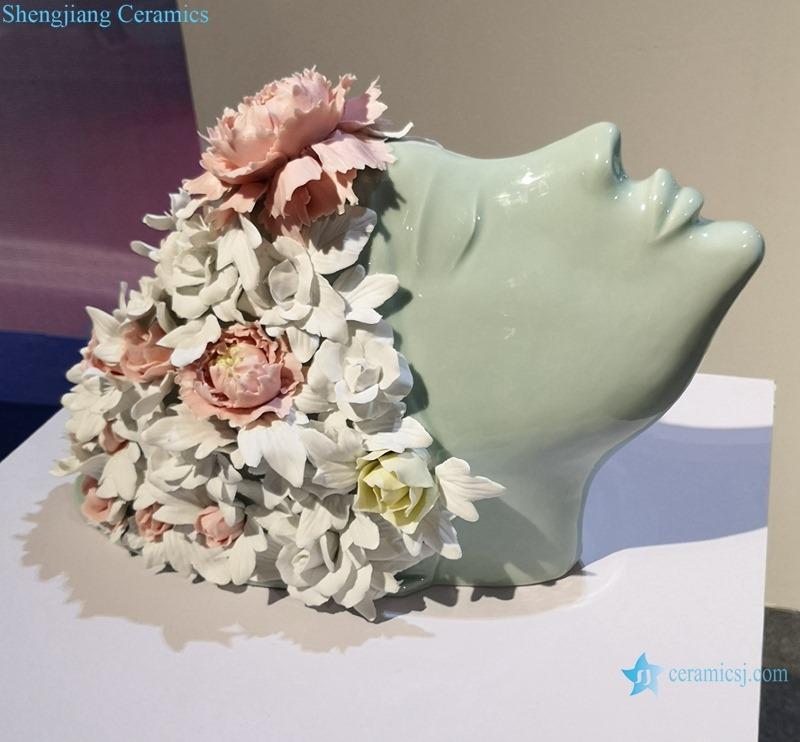 THE FLOWER GIRL DESIGN OF CERAMIC SCULPTURE
