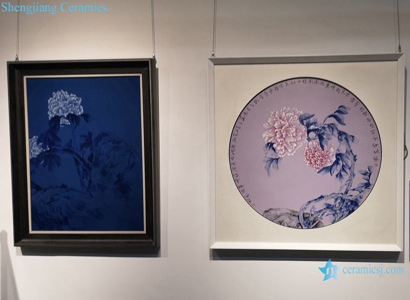 THE PEONY DECORATIVE OF RELIEF PAINTING