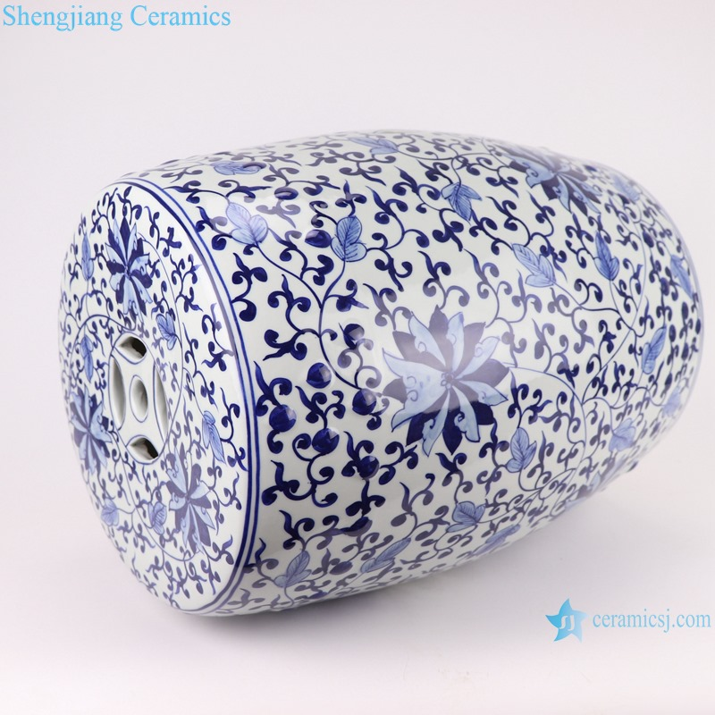 Chinese blue and white porcelain stool flower design RYNQ263