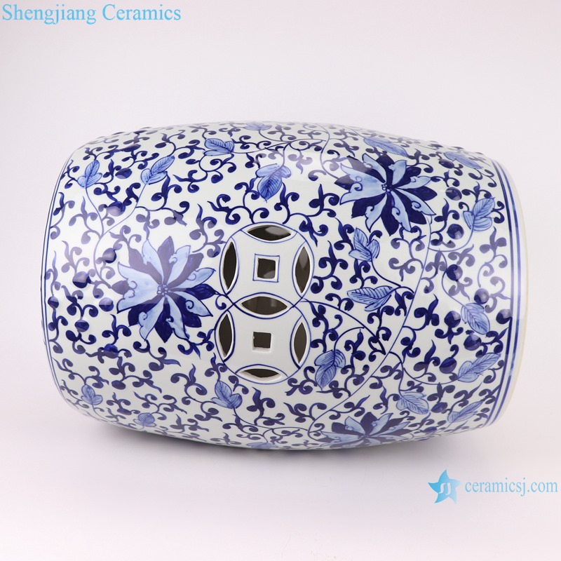 Chinese blue and white porcelain stools flower design RYNQ263