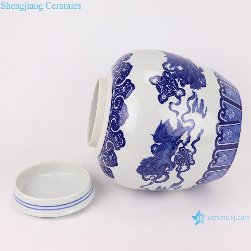 Chinese handmade blue and white ceramic pot dragon designRYUJ31