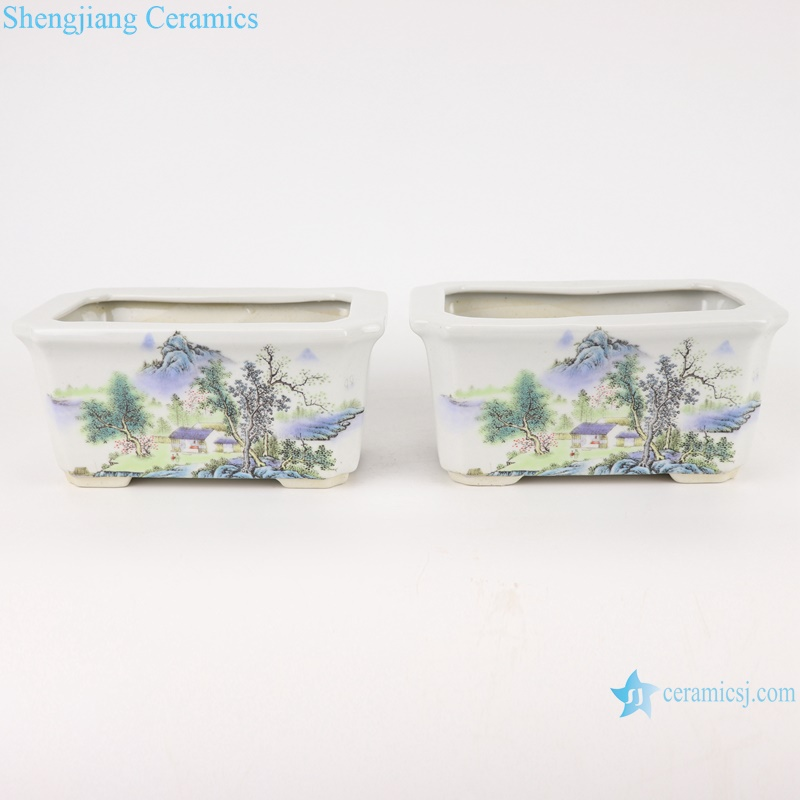RYXP38- A/B/C Chinese squared mouth shape group ceramic planter decoration