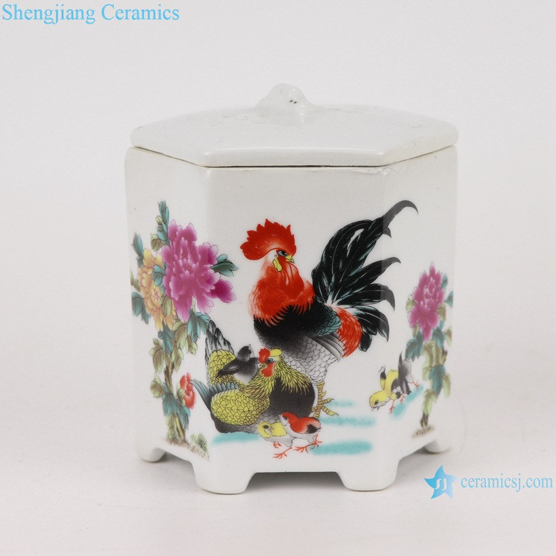 sexangle mouth ceramic planter decoration