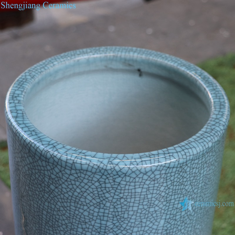 Chinese handmade enamel blue decorative porcelain vase RYYV07-C-L-S