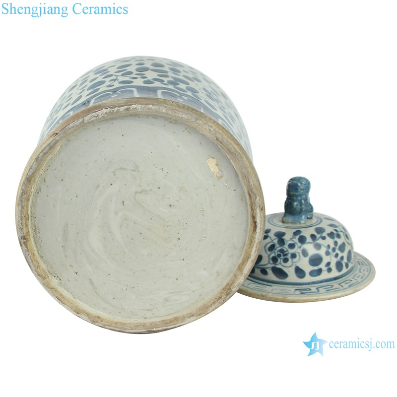 Chinese handmade Blue and white porcelain general pot flower design RZEY12-M