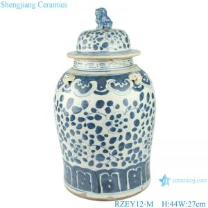 RZEY12-M Chinese handmade Blue and white porcelain general pot flower design